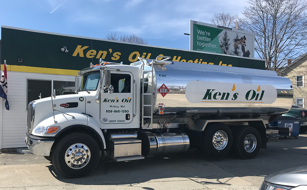 Ken's Oil and Heating Truck at Main Office